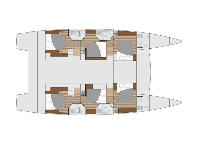 Ipanema 58 layout - Cabines