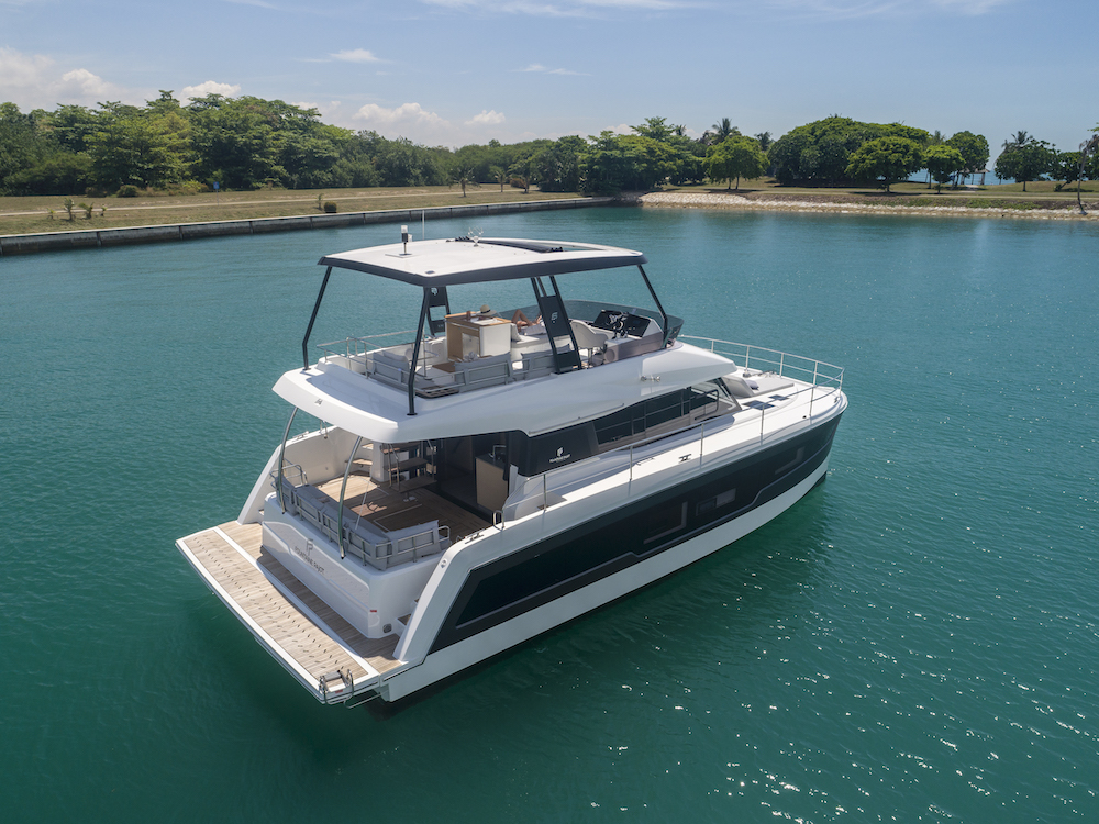 Fountaine Pajot MY40 moored 2