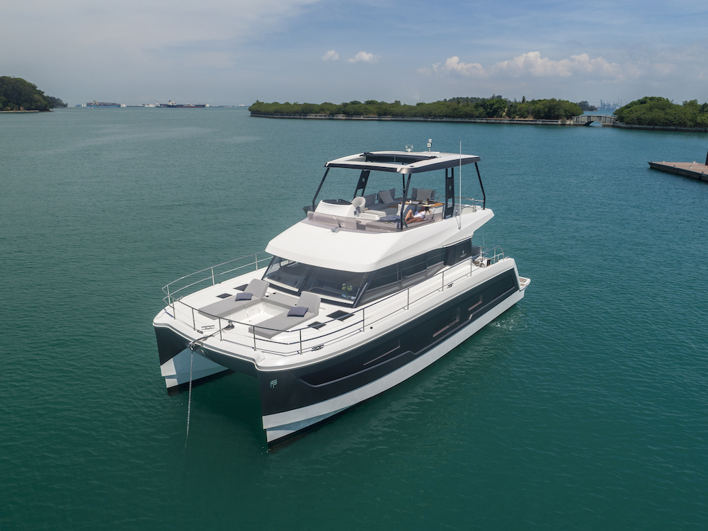 Fountaine Pajot MY40 moored