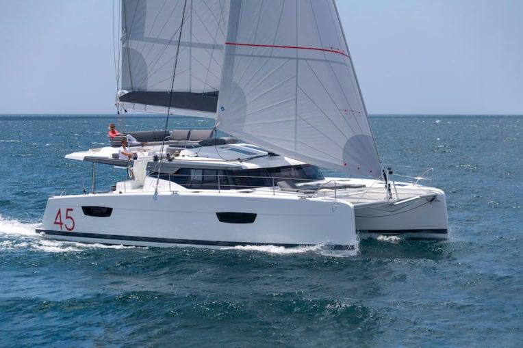 Elba 45 sailing