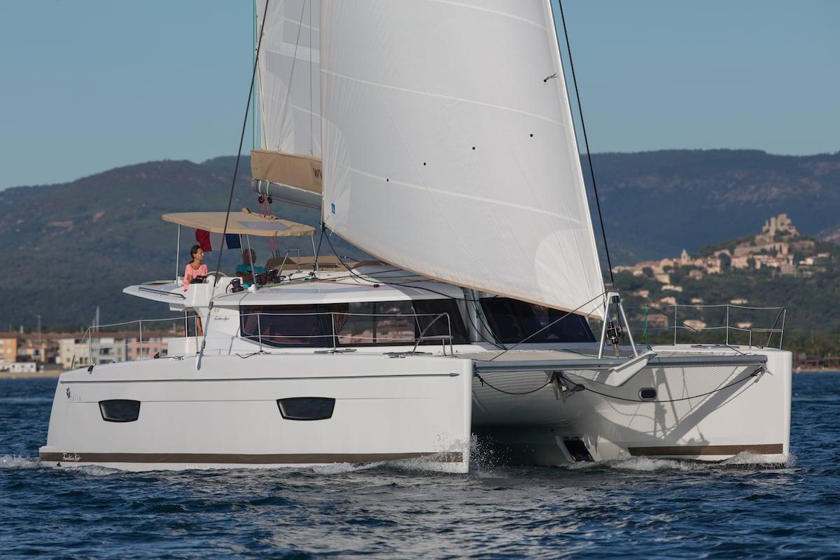 Helia44 evolution under sail