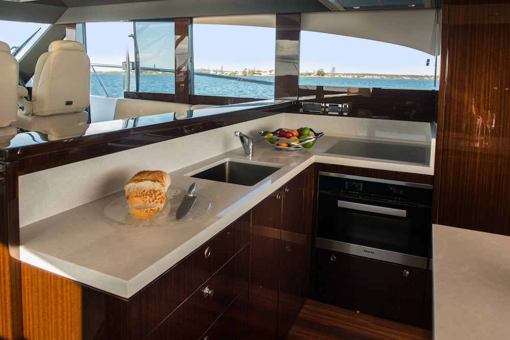 Maritimo S59 galley bench