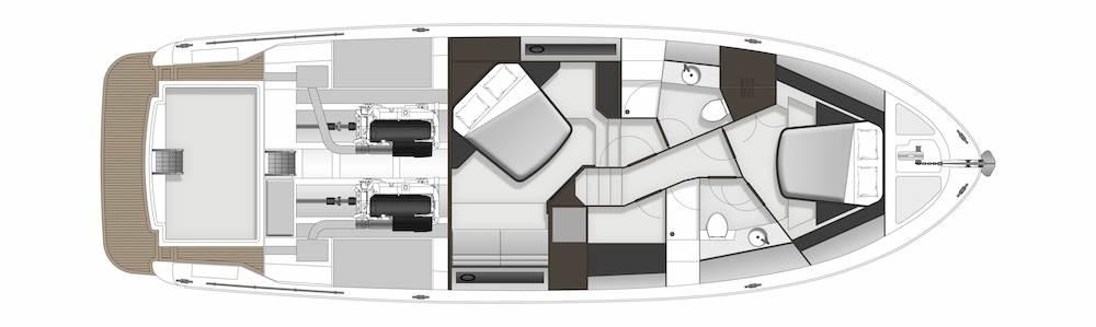 Maritimo M51 GA accomm / utility room