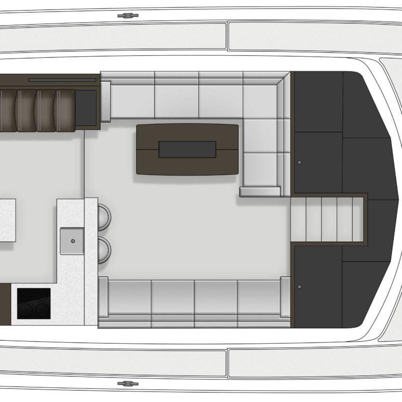 Maritimo M64 plan