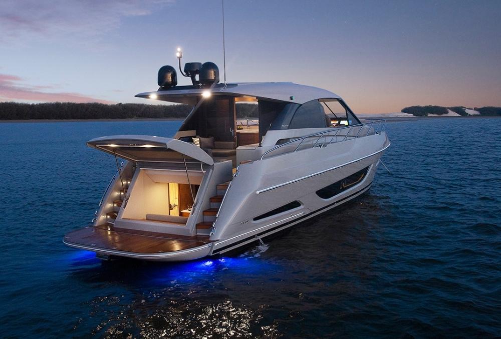 Luxury sedan cruiser at dusk