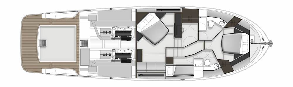 Maritimo S54 accomodation