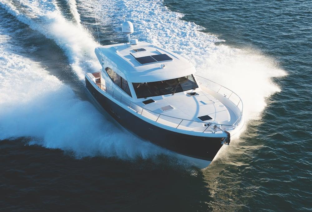 Maritimo S54 blue hull