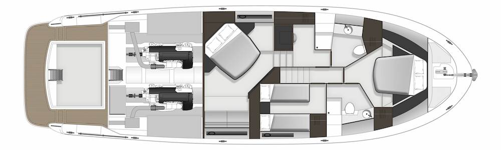 Maritimo S59 accommodation