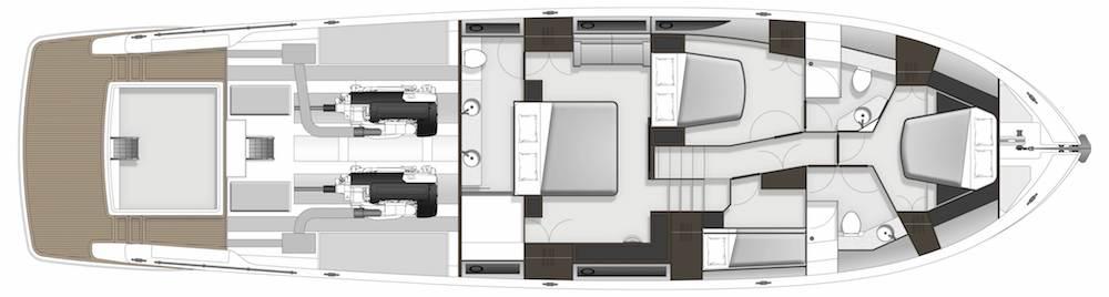Maritimo S70 accommodation