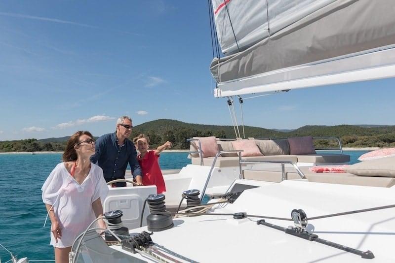 Saona 47 sailing