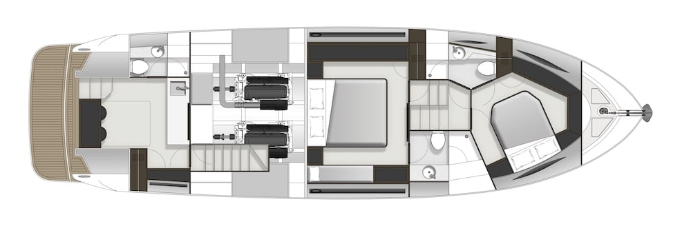 Maritimo X50 accommodation