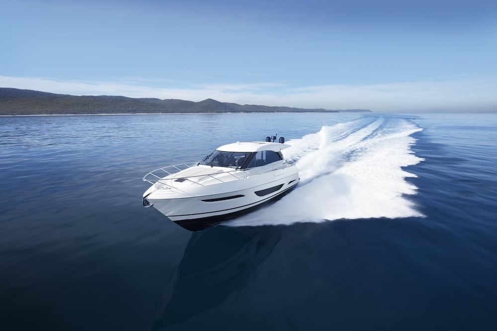 Maritimo X50 running side on